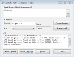 H264 Level Editor 1 5 3 Free Download - VideoHelp
